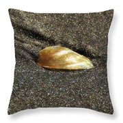 Golden Shell Throw Pillow