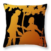 Golden Silhouette Garden Proposal Will You Marry Me Throw Pillow