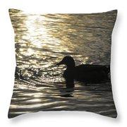 Golden Silhouette  Throw Pillow