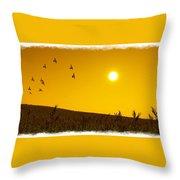 Golden Sky... Throw Pillow