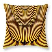 Golden Slings Throw Pillow