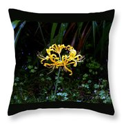 Golden Spider Lily Throw Pillow
