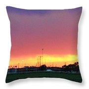 Golden Spike Sunset Throw Pillow