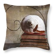 Golden Spirals Throw Pillow