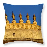 Golden Spires Udaipur City Palace India Throw Pillow