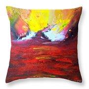 Golden Splendour Throw Pillow