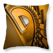 Golden Staircase Throw Pillow