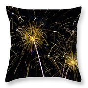 Golden Starburst Throw Pillow