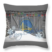 Golden State Warriors Throw Pillow