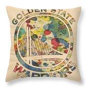 Golden State Warriors Logo Art Throw Pillow