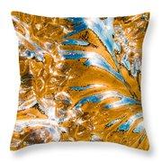Golden Steel Swirl Throw Pillow