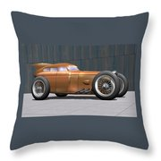 Golden Submarine Throw Pillow