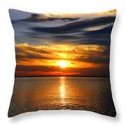 Golden Sun Throw Pillow
