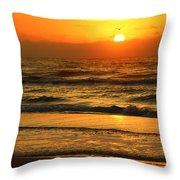 Golden Sun Up Reflection Throw Pillow