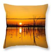 Golden Sunrise IIi Throw Pillow