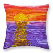 Golden Sunset 2 Throw Pillow