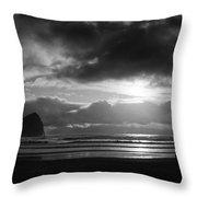 Golden Sunset Bw Throw Pillow