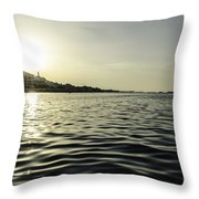 Golden Sunset In Italy Throw Pillow