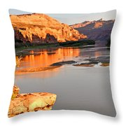 Golden Sunset On The Colorado Throw Pillow