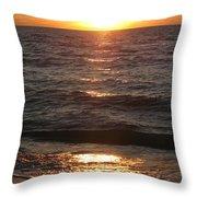 Golden Sunset At Destin Beach Throw Pillow