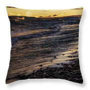 Golden Superior Shore Throw Pillow