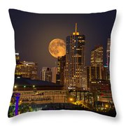 Golden Supermoon Throw Pillow