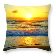 Golden Surprise Sunrise Throw Pillow