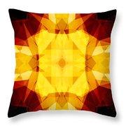 Golden Textured Triangles Throw Pillow