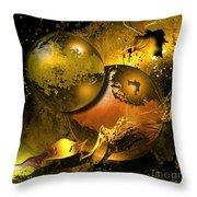 Golden Things Throw Pillow by Franziskus Pfleghart