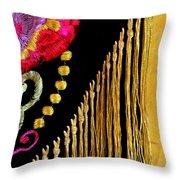 Golden Threads Throw Pillow