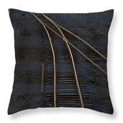 Golden Tracks Throw Pillow
