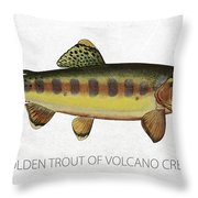 Golden Trout Of Volcano Creek Throw Pillow