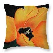 Golden Tulip Throw Pillow