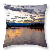 Golden Twilight Throw Pillow