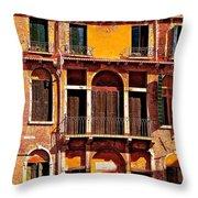 Golden Venice Throw Pillow
