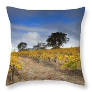 Golden Vines Throw Pillow