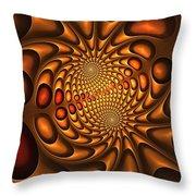 Golden Vortex Throw Pillow