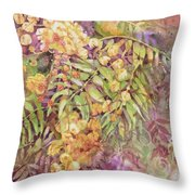 Golden Wattle Throw Pillow