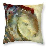 Golden Wave Throw Pillow