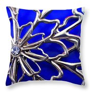 Golden Web Throw Pillow by Catherine Ratliff