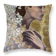 Golden Wind Throw Pillow