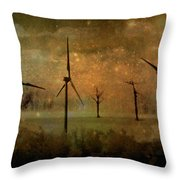 The Golden Winds Blew The Stars Throw Pillow