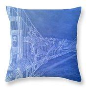 Golder Gate Bridge Inverted Throw Pillow