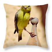 Goldfinch Hanging On 031015ac Throw Pillow