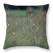 Goldfinch Party Throw Pillow