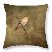 Goldfinch Portrait Throw Pillow