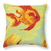 Goldfish 1 Throw Pillow