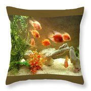 Goldfish At The Chinese Restaurant  Throw Pillow