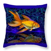 Goldfish Electric Throw Pillow