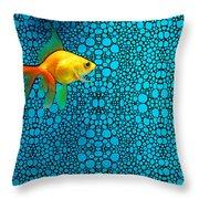 Goldfish Study 3 - Stone Rock'd Art By Sharon Cummings Throw Pillow